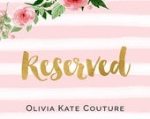 Reserved for okibound Flower Girl Dress RO Rush order
