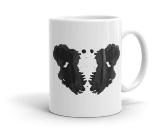 Psychologist Gift Mug inspired by Rorschach Inkblot Test 3