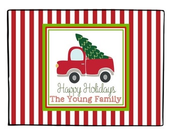 Charming Vintage Truck Christmas Door Mat   Personalized And Customized For You    18x24   Holiday Decor