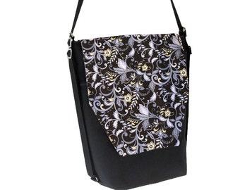 Backpack Convertible Bag - Shoulder Bag - Cross Body Purse - iPad Purse -3 in 1 bag- Tablet Bag - Borsa Bella - Nightengale Fabric