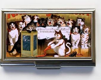 Kitten cats Choir Business Card Holder Card Case