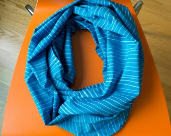 Skinny Stripes Hand Dyed and Patterned Infinity Scarf