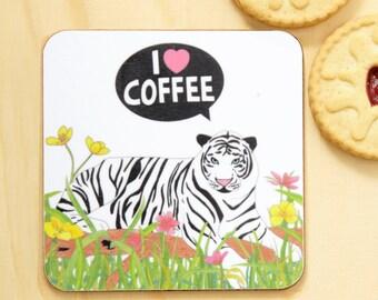 I Heart Coffee Coaster