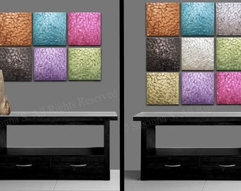 """Up to 72"""" Original Thick Texture Paintings, Art Installation Wall Decor Wall Hanging Wall Art Mural Mix&Match Huge Selection of Colors/Sizes"""