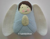 Boy Guardian Angel Felt Softie