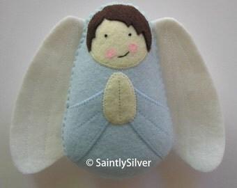 Boy Guardian Angel Felt Softie