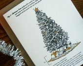 letterpress fig. 1 christmas tree illustrated christmas pack/6 science anatomy of a christmas tree ornaments tinsel gifts