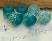 Lampwork Beads Saltwater Blue Mix Limited Edition