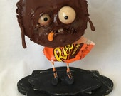 Rudy the zombie Peanut butter cup Ooak  art doll