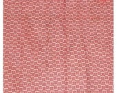 Vintage Voile Tiny Red Blocks Fabric 741