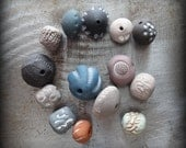 Reserved, Handmade, Hand Painted Beads, Collection of 14, Special Order, Monicaj, Clay, Textured