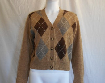 90s Womens sweater cardigan, Wool Cardigan button up Sweater