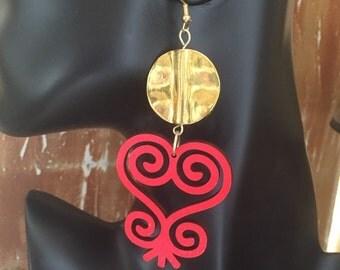 Afrocentric Jewelry, Adinkra,Fashion, Earrings