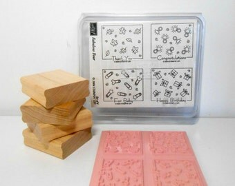 Stampin Up Fabulous Four Set of 4 Stamps New Unmounted