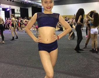 Beautiful Dance wear set shimmer mesh s 4-5 yo, 6-6X, 7-8, 10-12, 15-16. Available in other colors
