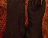 SALE Vintage Black Kid Leather Gloves France Fetish Size 7 1/2
