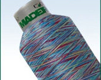 Madeira Rayon & Polyneon 40 Thread 1100 yards-Multi color Only. 3 Spool minimum.  FREE First Class mail shipping.