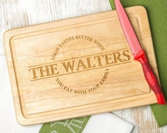 Chopping Board Personalised Family Name Design (Shop full range for more designs)