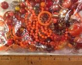 Orange bead crafters lot