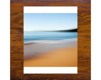8x8 print [JCP-116] - OCEAN #1 - Pearl Beach, blue, orange, beach photography, australia, impressionist photography