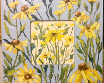 Painted Frame Blackeyed Susans