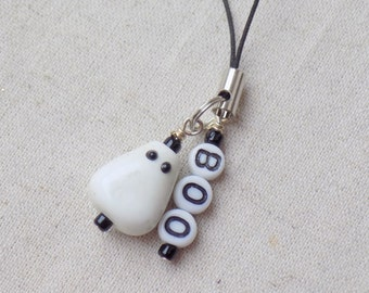 Ghost BOO mobile phone charm