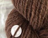 Natural brown 100% alpaca handspun worsted weight yarn 330 yards huge skein sock yarn knitting weaving natural