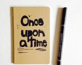 "linoprint, cahier, moleskine, lined 3.5"" x 5.5"" handprinted moleskine notebook, linoprint, blockprint"