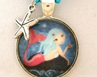 Mermaid Necklace- Childrens Jewelry- Kids Jewelry- Mermaid Pendant -Gift for Girl- Mermaid Jewelry