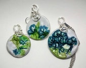 Botanical Pendant and earring set (Cape Breton Foliage) CBF007