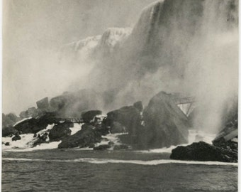 vintage photo 11900 Maid of Mist Niagara Falls Wonder of the World Beautiful Images 2 photo lot