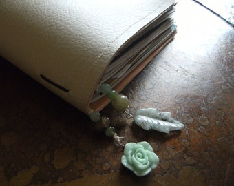 Botanical Rainbow Agate Acrylic and Jasper Traveler's Notebook Bookmark