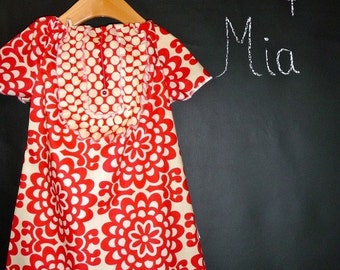 Will fit Size 6 month up to a 24 month - Ready to MAIL - Aline Tuxedo Mini Dress or Top - Amy Butler - by Boutique Mia