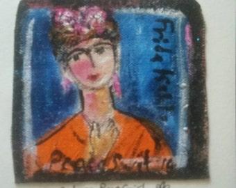 Frida Kalho original PeaceSwirl painting tiny #2