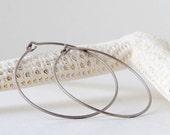 Pure Titanium - Hypoallergenic - Titanium Hoops - Hoop Earrings - Gift Idea - Handmade Jewelry- Handmade Earrings- Hypoallergenic Earrings