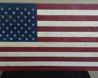 USA Flag - Patriotic Sign - Made from Reclaimed Wood