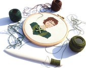 Prince Charming cross stitch portrait