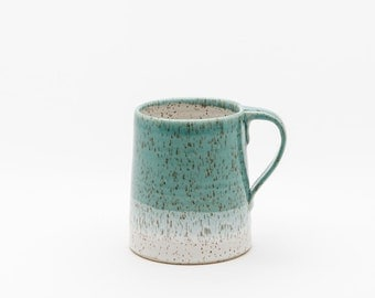 Dipped Mug in Speckled Stoneware: West Coast Colours