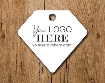 Custom Diamond Gemstone Shape Product Price Tags - Gift Tags - Hang Tags