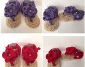 Flower Sandals - Any Colo Combo 0-12 Months