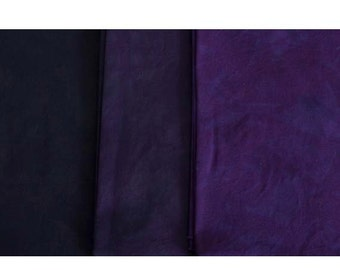 Ripe PLUM Shades - hand dyed Fabric - 3 pc Fat Quarter Gradation Bundle - Tuscan Rose MPBK663