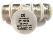 BIRTHDAY SALE - Silver Plated Wire - 28 Gauge Wire for Making Jewlery, Non Tarnish Wire, Wire Wrapping Supplies, Round Wire