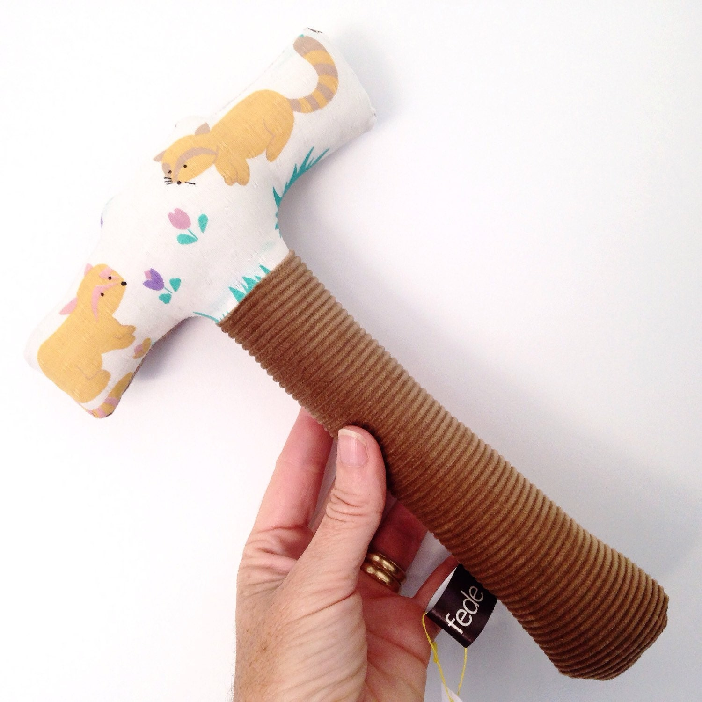 Boys Plush Toys : Little boys hammer rattle soft toy plush baby gift