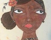 Asha. Original Mixed Media Art