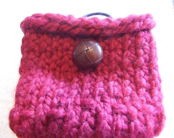 Blood red Wool  Mini bag