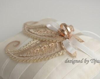 Ivory wedding ring bearer pillow-ring cushion, ring pillow, ring holder,wedding pillow, ready to ship