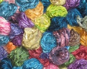 NEW--Silk / Seacell 40-60 Pencil Roving, hand dyed,  (2 ounces)
