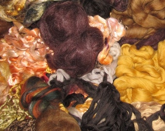 SALE  Fractal Spinning Kit  8 Ounces Browns and Oranges