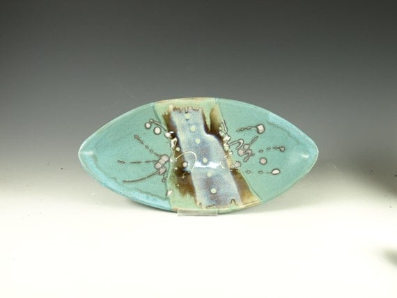 Oval Serving Tray stoneware hand made pottery