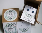 RESERVED FOR PathInTheMoonlight - Will You Be My Bridesmaid Favor, I Cant Say I Do Without You Boho, Earring Cards, Recycled Paper Fill (13)